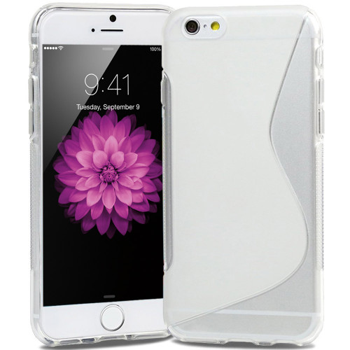 """Clear S-Line Soft Rubber Gel Cover Case for Apple iPhone 6 / 6S 4.7"""""""