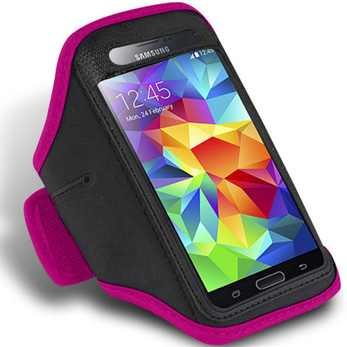Pink Active Sports Armband Case for Samsung Galaxy S5 Phone Cover