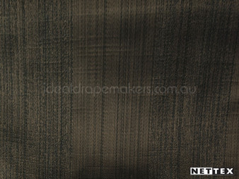 Nettex Wilton Raven (MG6)  | Curtain Fabric - Brown, Plain, Stripe, Synthetic, Traditional, Domestic Use, Standard Width