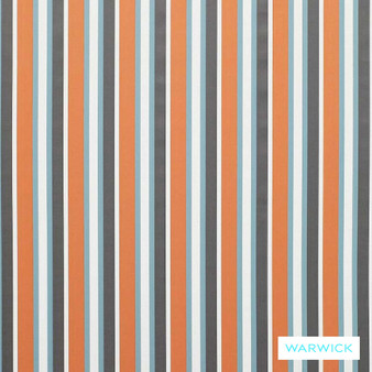 Warwick Bondi Outdoor Mindill Calippo  | Curtain & Upholstery fabric - Eclectic, Marine Use, Outdoor Use, Stripe, Synthetic, Traditional, Washable, Bacteria Resistant, Halo