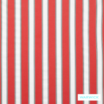 Warwick Bondi Outdoor Waikiki Hibiscus  | Curtain & Upholstery fabric - Red, Eclectic, Marine Use, Outdoor Use, Stripe, Synthetic, Traditional, Washable, Bacteria Resistant