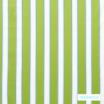 Warwick Bondi Outdoor Waikiki Lime  | Curtain & Upholstery fabric - Eclectic, Marine Use, Outdoor Use, Stripe, Synthetic, Traditional, Washable, Bacteria Resistant, Halo