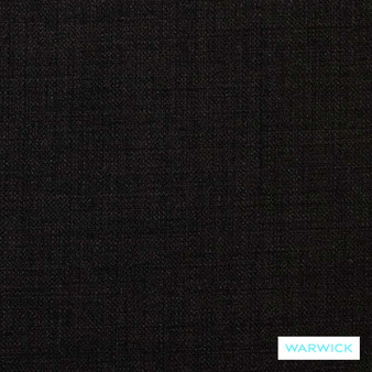 Warwick Cargo Ebony  | Upholstery Fabric - Plain, Black - Charcoal, Synthetic, Washable, Commercial Use, Domestic Use, Halo, Standard Width