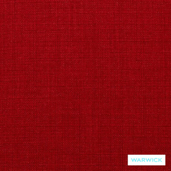Warwick Cargo Scarlet  | Upholstery Fabric - Plain, Red, Synthetic, Washable, Commercial Use, Domestic Use, Halo, Standard Width