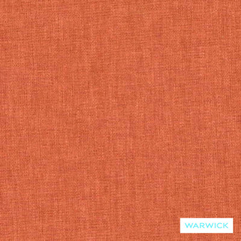Warwick Chambray Mandarin  | Curtain & Upholstery fabric - Plain, Fibre Blends, Washable, Commercial Use, Standard Width