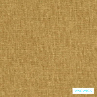 Warwick Chambray Mustard  | Curtain & Upholstery fabric - Washable, Gold, Yellow, Plain, Fibre Blend, Standard Width