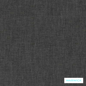 Warwick Chambray Steel  | Curtain & Upholstery fabric - Washable, Black, Charcoal, Plain, Fibre Blend, Standard Width