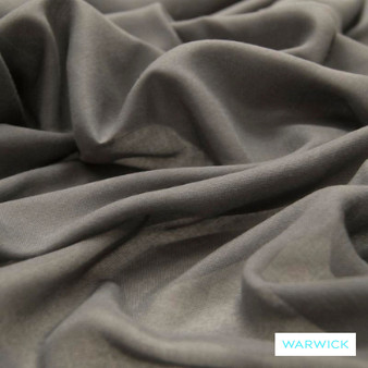 Warwick Chios Kasos Asphalt  | Curtain Sheer Fabric - Plain, Synthetic, Tan, Taupe, Transitional, Washable, Domestic Use, Weighted Hem, Wide Width
