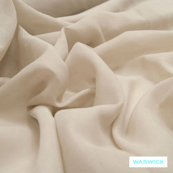 Warwick Chios Kasos Quartz  | Curtain Sheer Fabric - Washable, Beige, Tan, Taupe, Wide-Width, Transitional, Natural, Plain