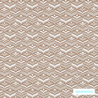 Warwick Coolum Outdoor Avoca Stone    Curtain & Upholstery fabric - Art Deco, Eclectic, Geometric, Marine Use, Outdoor Use, Synthetic, Tan, Taupe, Washable, Domestic Use, Halo