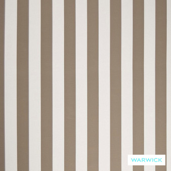 Warwick Coolum Outdoor Mallacoota Stone    Upholstery Fabric - Eclectic, Marine Use, Outdoor Use, Stripe, Synthetic, Tan, Taupe, Traditional, Washable, Bacteria Resistant