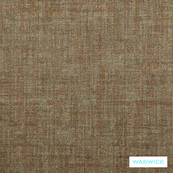 Warwick Evelyn Verona Wedgewood  | Upholstery Fabric - Brown, Plain, Synthetic, Washable, Commercial Use, Standard Width