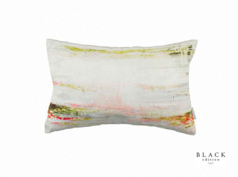 Black Edition - Bliss Cushion  | Cushion Fabric - Linen/Linen Look, Green, Grey, Contemporary, Cushion, Dry Clean, Whites, Abstract, Print