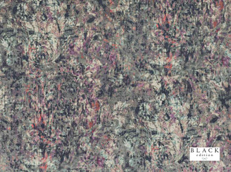 Black Edition - Lombardo Zinnia  | Curtain & Upholstery fabric - Blue, Pink, Purple, Contemporary, Dry Clean, Velvets, Abstract, Damask, Print