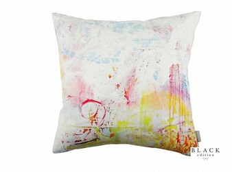 Black Edition - Passion 3 Cushion  | Cushion Fabric - Linen/Linen Look, Blue, Gold, Yellow, Contemporary, Cushion, Dry Clean, Whites, Abstract, Print