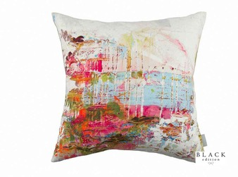 Black Edition - Passion 2 Cushion  | Cushion Fabric - Linen/Linen Look, Blue, Green, Pink, Purple, Contemporary, Cushion, Dry Clean, Abstract, Print
