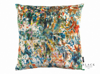 Black Edition - Lombardo 50cm Cushion Vermillion  | Cushion Fabric - Blue, Pink, Purple, Contemporary, Cushion, Dry Clean, Velvets, Abstract, Print