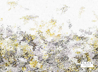 Black Edition - Breathe 4m Wallcovering Lichen  | Wallpaper, Wallcovering - Gold, Yellow, Green, Contemporary, Whites, Abstract