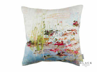 Black Edition - Passion 1 Cushion  | Cushion Fabric - Linen/Linen Look, Blue, Green, Pink, Purple, Contemporary, Cushion, Dry Clean, Abstract, Print