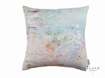 Black Edition - Big Smile Cushion  | - Linen/Linen Look, Blue, Pink, Purple, Contemporary, Cushion Cover, Dry Clean, Whites, Abstract, Print