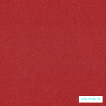Warwick Lustrell Charisma Poppy  | Upholstery Fabric - Plain, Red, Vinyl, HealthGuard, Synthetic, Washable, Commercial Use, Standard Width