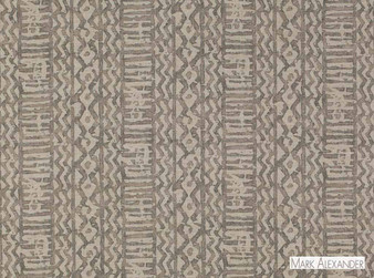 Mark Alexander - Khari Gunmetal  | Curtain & Upholstery fabric - Tan, Taupe, Contemporary, Dry Clean, Geometric, Abstract, Natural, Southwestern