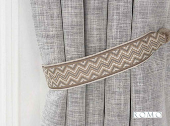 Romo - Marcel Tie Back Oyster  | Tie back, Curtain Accessory - Beige, Brown, Tan, Taupe, Trimmings, Tie-Back, Fibre Blend
