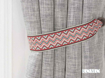 Romo - Marcel Tie Back Rocoto  | Tie back, Curtain Accessory - Red, Trimmings, Tie-Back, Fibre Blend
