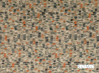 Romo - Murano Clementine    Curtain & Upholstery fabric - Black, Charcoal, Orange, Tan, Taupe, Dry Clean, Velvets, Print, Small Scale, Fibre Blend