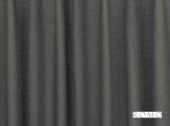Romo - Cendal Grey Seal    Curtain & Curtain lining fabric - Linen/Linen Look, Washable, Black, Charcoal, Wide-Width, Dry Clean, Plain, Fibre Blend