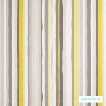 Warwick Monaco Lounger Chartreuse  | Curtain & Upholstery fabric - Gold,  Yellow, Contemporary, Eclectic, Natural Fibre, Stripe, Washable, Domestic Use, Natural