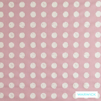 Warwick Playtime Dotty Petal  | Curtain Fabric - Foulard, Geometric, Kids, Children, Midcentury, Natural Fibre, Pink, Purple, Small Scale, Washable, Domestic Use, Natural