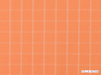 Villa Nova - Chatham Clementine  | Curtain & Upholstery fabric - Linen/Linen Look, Orange, Contemporary, Dry Clean, Check, Natural, Plaid