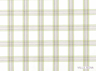 Villa Nova - Lewis Lime    Curtain & Upholstery fabric - Linen/Linen Look, Brown, Green, Traditional, Dry Clean, Check, Natural, Plaid, Natural Fibre