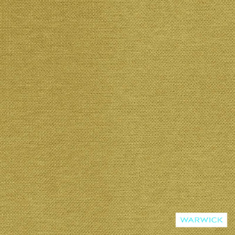 Warwick Prague Chartreuse  | Curtain & Upholstery fabric - Gold,  Yellow, Plain, Synthetic, Washable, Commercial Use, Halo, Standard Width