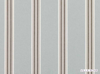 Villa Nova - Nauset Freshwater  | Curtain & Upholstery fabric - Linen/Linen Look, Blue, Grey, Stripe, Traditional, Dry Clean, Natural, Natural Fibre