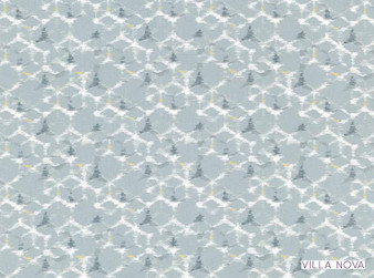 Villa Nova - Sudare Caspian  | Curtain & Upholstery fabric - Linen/Linen Look, Blue, Contemporary, Dry Clean, Geometric, Natural, Natural Fibre