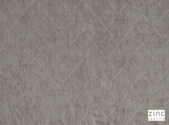 Zinc Textile - Versailles Driftwood  | Curtain & Upholstery fabric - Grey, Traditional, Geometric, Chevron, Zig Zag, Decorative, Herringbone, Tile