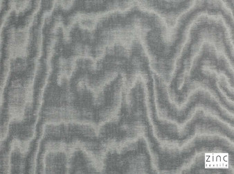 Zinc Textile - Jacopo Silver Grey  | Curtain & Upholstery fabric - Grey, Silver, Transitional, Dry Clean, Velvets, Moire, Organic, Print