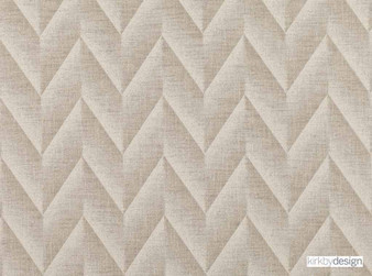 Kirkby Design - Apex Natural  | Curtain & Upholstery fabric - Tan, Taupe, Contemporary, Dry Clean, Chevron, Zig Zag, Herringbone, Fibre Blend
