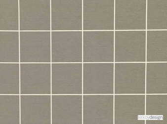 Kirkby Design - Window Natural'  | Upholstery Fabric - Brown, Dry Clean, Geometric, Check, Tile, Fibre Blend, Standard Width