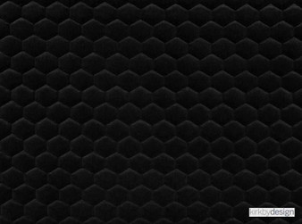 Kirkby Design - Cloud Jet Black  | Upholstery Fabric - Black, Charcoal, Dry Clean, Geometric, Embroidery, Quilted, Velvets, Honeycomb, Fibre Blend