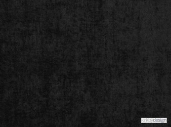 Kirkby Design - Ion Jet Black  | Curtain & Upholstery fabric - Washable, Black, Charcoal, Dry Clean, Velvets, Plain, Standard Width