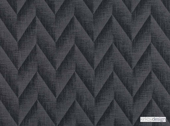 Kirkby Design - Apex Jet Black  | Curtain & Upholstery fabric - Black, Charcoal, Contemporary, Dry Clean, Chevron, Zig Zag, Herringbone, Fibre Blend