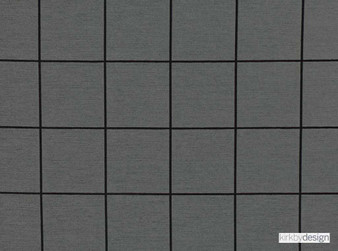 Kirkby Design - Window Graphite  | Upholstery Fabric - Black, Charcoal, Grey, Dry Clean, Geometric, Check, Tile, Fibre Blend, Standard Width