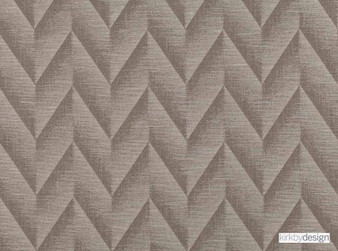 Kirkby Design - Apex Earth  | Curtain & Upholstery fabric - Brown, Contemporary, Dry Clean, Chevron, Zig Zag, Herringbone, Fibre Blend, Standard Width