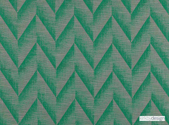 Kirkby Design - Apex Eden  | Curtain & Upholstery fabric - Green, Contemporary, Dry Clean, Chevron, Zig Zag, Herringbone, Fibre Blend, Standard Width