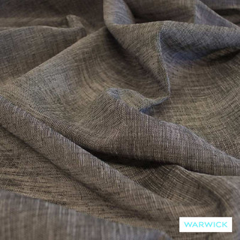 Warwick Tahiti Charcoal  | Curtain Sheer Fabric - Brown, Plain, Black - Charcoal, Synthetic, Transitional, Washable, Domestic Use, Weighted Hem, Wide Width