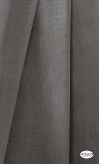 Wilson - Aruba Sheer - Steel  | Curtain Sheer Fabric - Grey, Plain, Synthetic, Domestic Use, Wide Width
