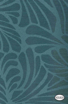Wilson - Marley - Blockout - Ocean  | - Stain Repellent, Blockout, Floral, Garden, Synthetic, Turquoise, Teal, Suitable for Blinds